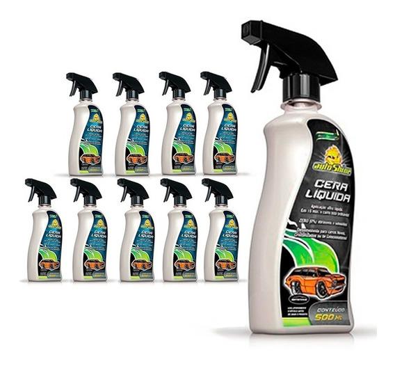 Kit 10 Cera Líquida Carnaúba Cristalizadora Spray Autoshine