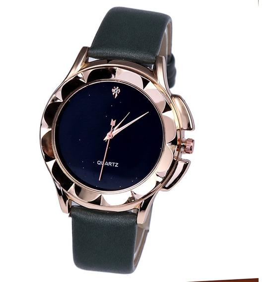 Reloj Casual Simple De Cuarzo Para Mujeres Niñas Verde