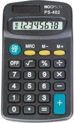 10 X Calculadora De Bolso Pilha Aaa 8 Dígitos Hoopson