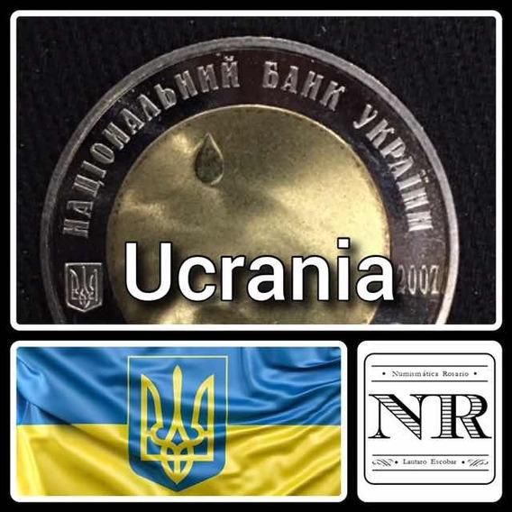 Ucrania 5 Grivna - Bimetalica 2007 - Km# 453 - Agua = Vida