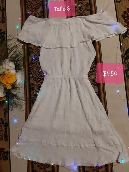 Vestido Bambula Blanco Talle S