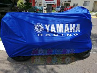 Funda Impermeable Para Moto Deportiva Azul