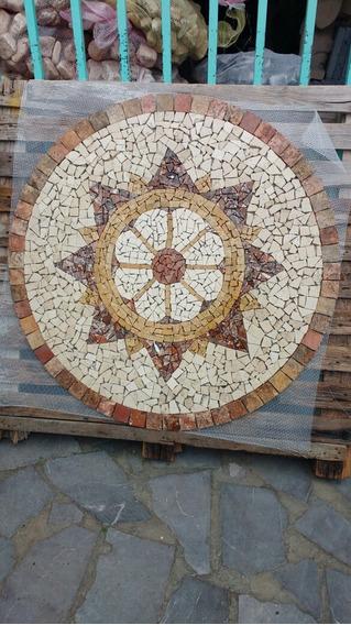 Mosaico / Tapete Flor Blanca En Marmol