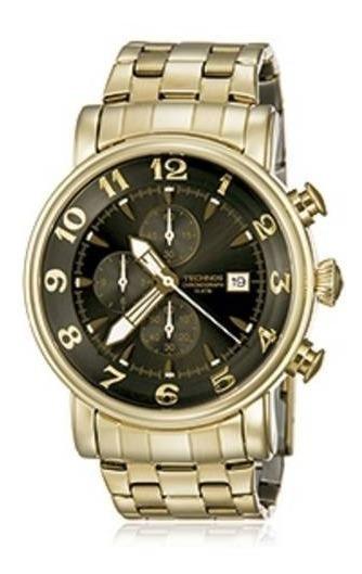 Relógio Technos Dourado Masculino Grandtech Cronógrafo Os10c