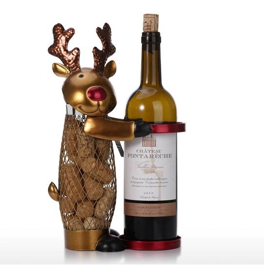 Reticulado Natal Alce Vinho Cremalheira Animal Vinho Titular