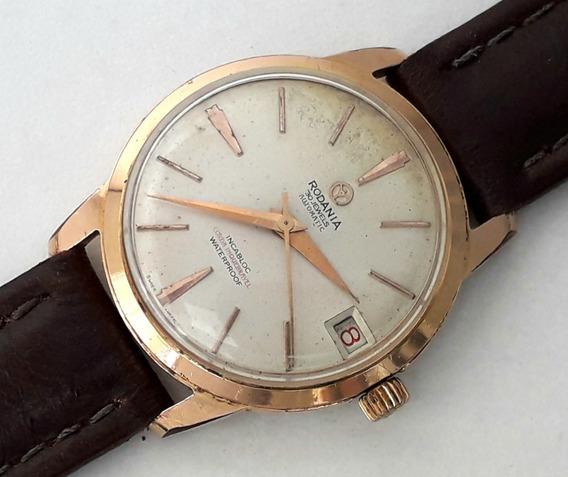 Relógio Antigo Automático Rodania 30 Rubis Calendário Suisse