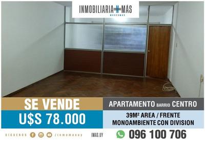 30m2 Monoambiente * Apartamento En Centro ***