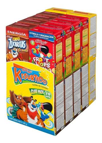Cereal Kellogg's Surtido Club 20 Pzas
