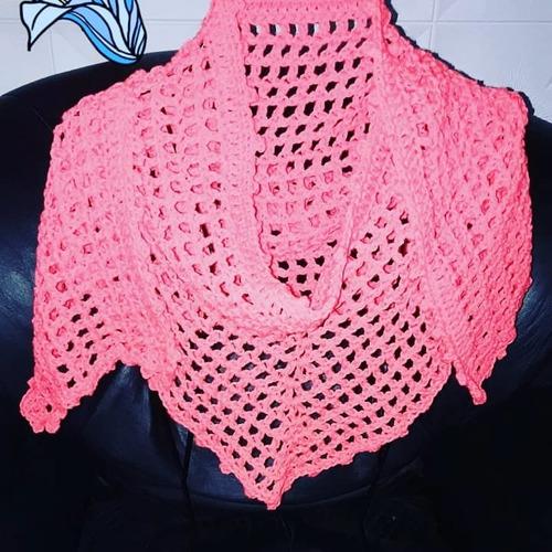 59b703c83 Capa Tejida Crochet - Chales y Chalinas Rojo en Mercado Libre Argentina