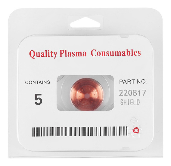 5pcs Plasma Shield Cup Cap Para Max65/85/105 Corte Antorcha