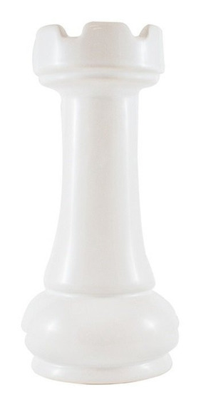 Pieza Ajedrez Ceramica Blanca