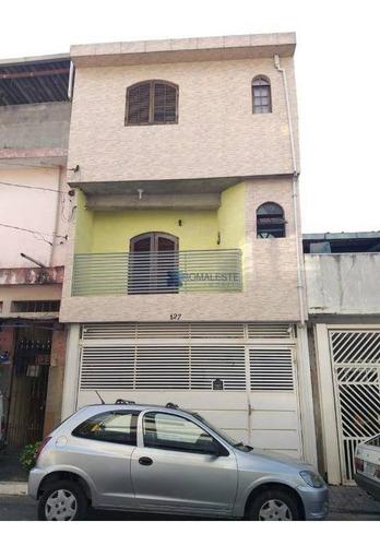 Sobrado Com 3 Dormitórios À Venda Por R$ 530.000,00 - Parque Santa Madalena - São Paulo/sp - So0333
