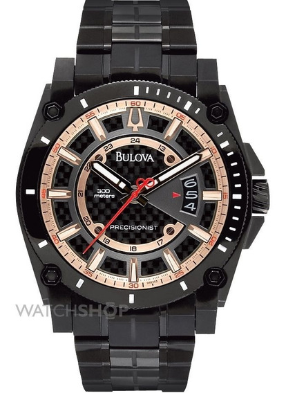Relógio Luxo Bulova Precisionist Champlain 98b143 Orig Anal!