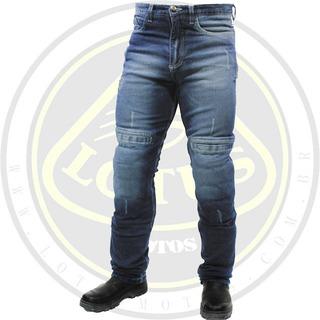 Calça Masculina Hlx Concept Jeans Motoqueiro Proteção