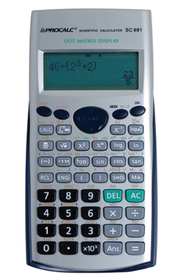 Calculadora Científica Sc991 Procalc Escolar Escritório