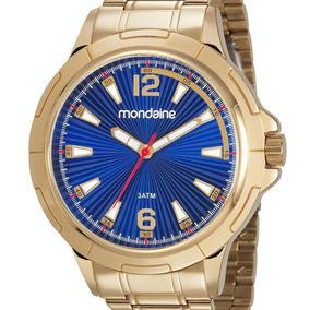 Relógio Mondaine Dourado Masculino 83452gpmvde2 Original