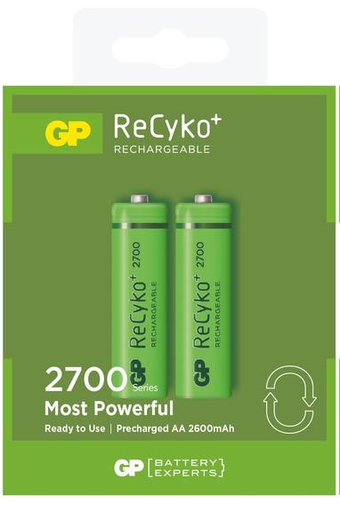 10 Pilhas Aa 2a Recarregável 2700mah Gp Recycko - 5 Cartelas