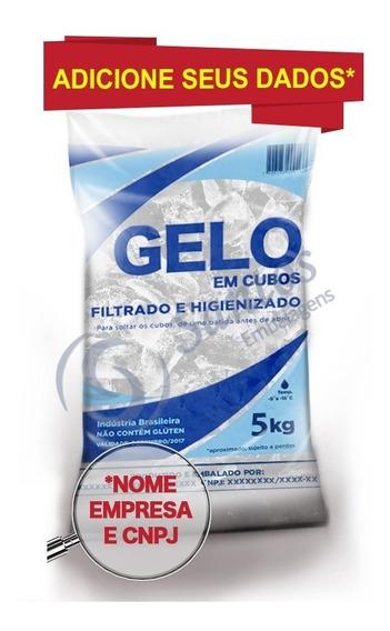 Saco P Gelo 5kg S/a Código De Barra 500 Transparente C/dados