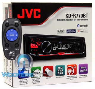Jvc Kd-r770bt Cd Mp3 Usb Aux Bluetooth Ecualizador 200w