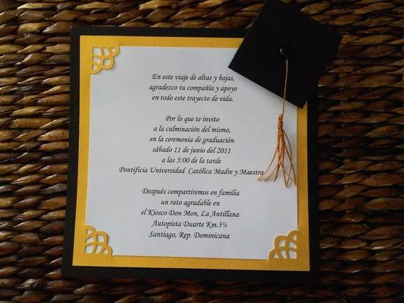 Invitacion Graduacion Preparatoria Invitaciones Para