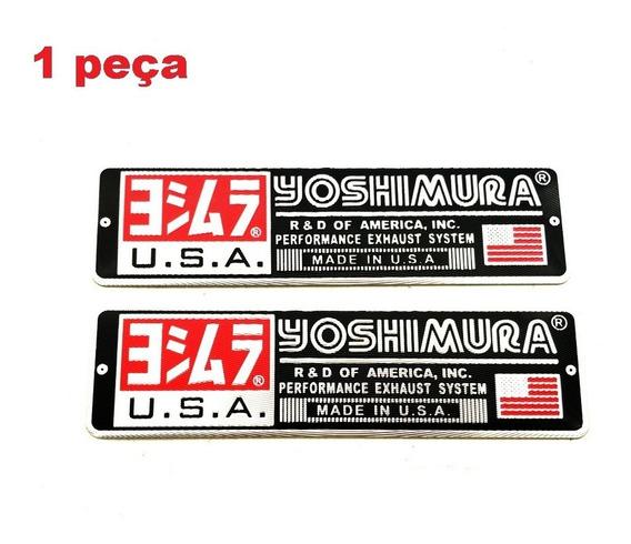 Adesivo Escapamento Yoshimura Alumínio 3d Moto Temperatura