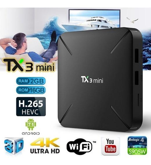 Tv Box Tx3 Conversor Smart Tv 2gb Ram 16gb