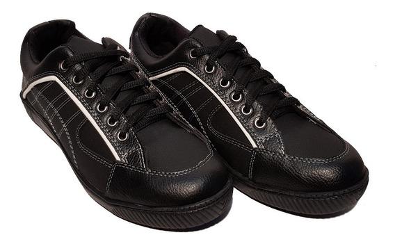 Zapatillas Prince 861 Urbanas Hombre Ecocuero Negro