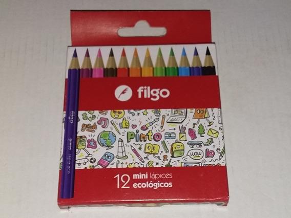 Mini Lápices Filgo De Color Caja X12. Pack X26 Cajitas