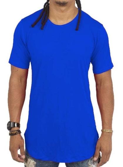 Camisa Masculina Long Line Barra Arredondada Qualidade Cores