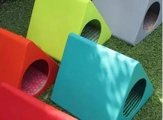 Cama Cucha Diseño Triangulo Gatos Perros Rigida Microcentro