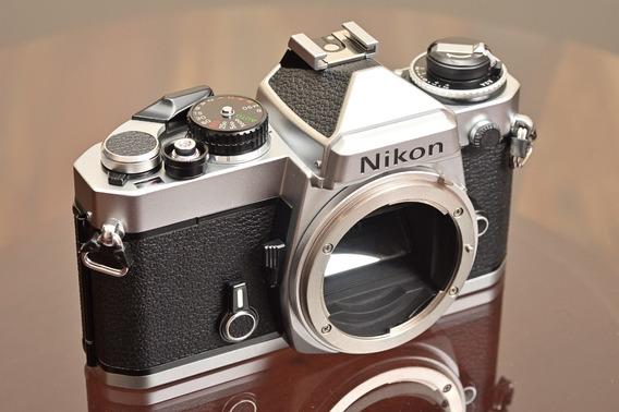 Câmera Nikon Fe Analógica Filme 35mm Manual Excelente Estado