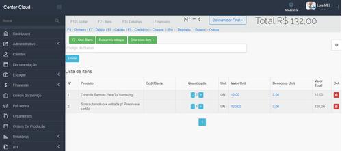 Imagem 1 de 10 de Sistema Online Para Vendas E Ordem De Serviço - Plano Mensal