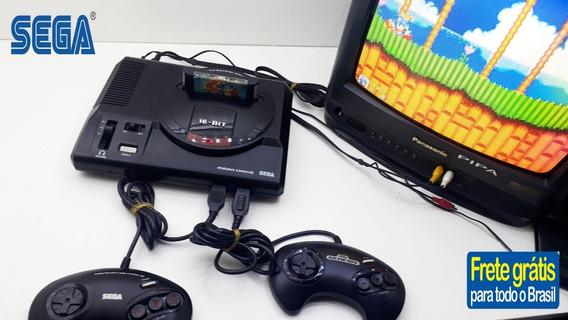 Mega Drive + 2 Controles + Jogo Original Funcionando 100%