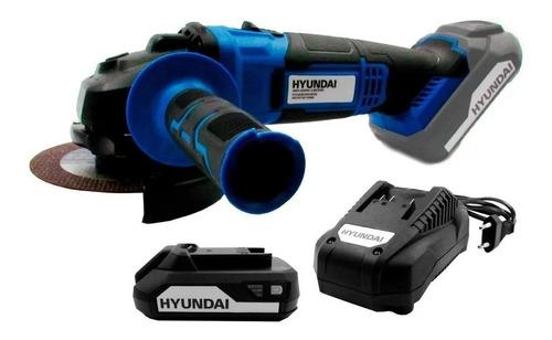 Amoladora Angular A Bateria Hyundai 115mm 20v Hycag20