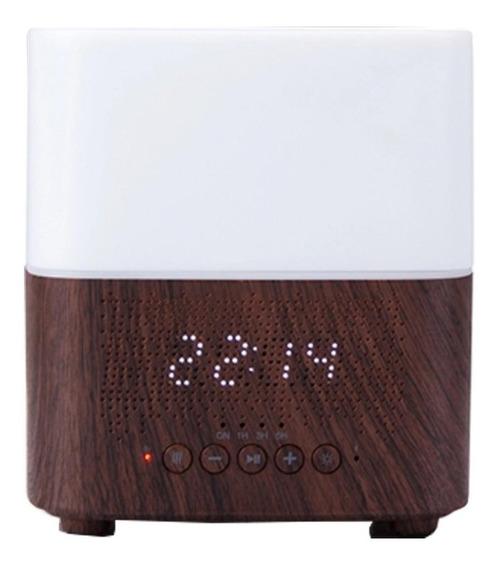 Difusor Ultrasonico Aromaterapia Bocina Bluetooth Y Reloj