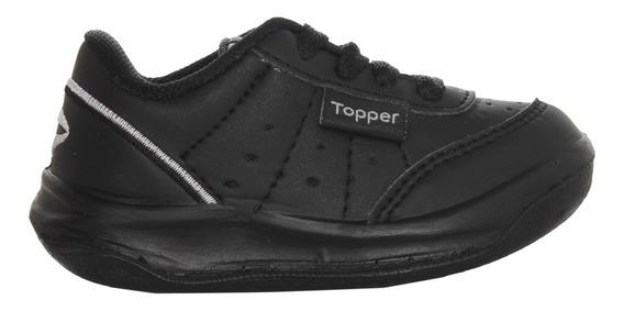 Zapatillas Topper C Training Baby X Forcer Negro Bebe Ng/ng