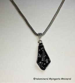 Pingente Pedra Obsidiana Nevada