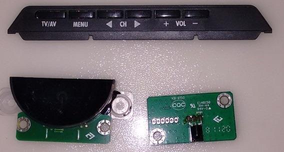 Placa De Controle + Sensor Da Tv Semp Le3250bwda