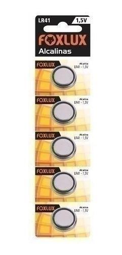 Bateria Botao Foxlux Alcalina Lr41 1,5v C5 50020