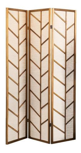 Imagen 1 de 7 de Biombo Decorativo De Madera, 3 Paneles Diseño De Ramas