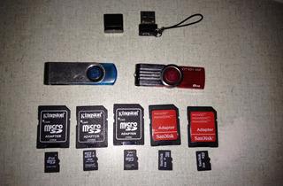 Cartão De Memória Microsd 2gb, 4gb, Pendrive 4gb, 8gb Baixei