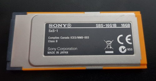 Cartão De Memória Sxs-1 Sony 16gb (sbs-16g1b)
