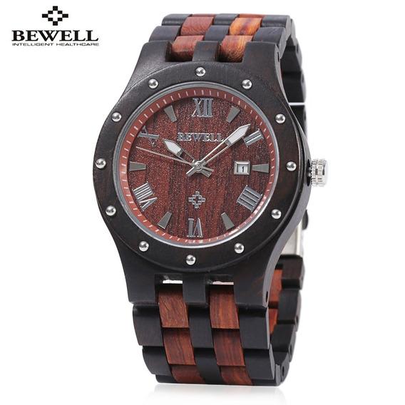 Bewell Zs - W109a Homens Quartz Relógio Redondo Discar De Ma