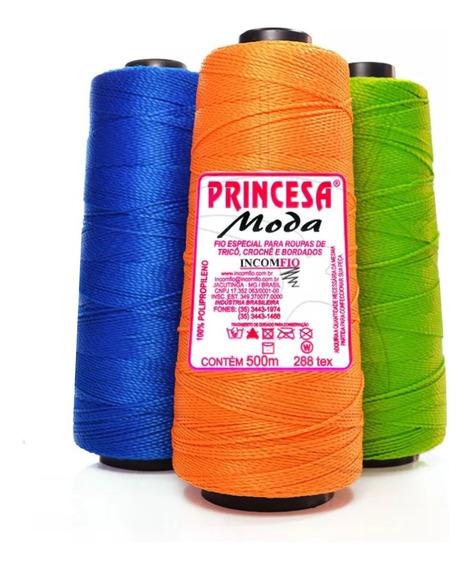 10 Cones Linha Princesa Moda Fio Grosso Crochê 500m