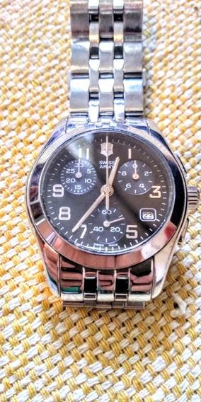 Swiss Army Relógio Suíço Unissex De Pulso Todo Em Aço Inox