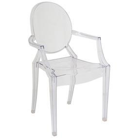 Cadeira Com Braço Ghost Transparente