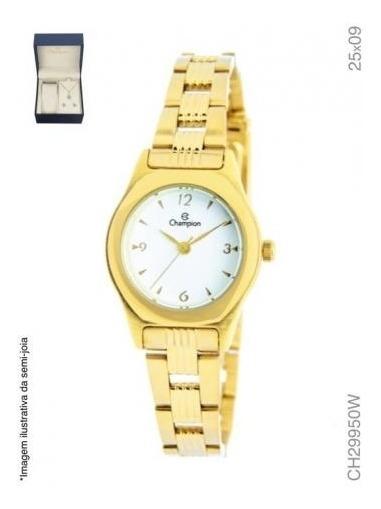 Relógio Champion Analógico Ch29950w Feminino + Semijoia