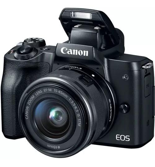 Eos M50 + Ef-m 15-45 F/3.5-6.3 Stm Aceita Microfone Externo