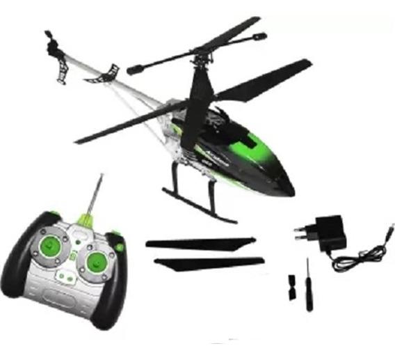 Helicoptero Grande De Controle Remoto Drone Giroscopio Led