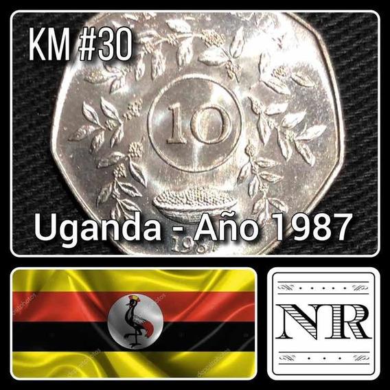 Uganda - 10 Shillings - Año 1987 - Km # 30 - Africa